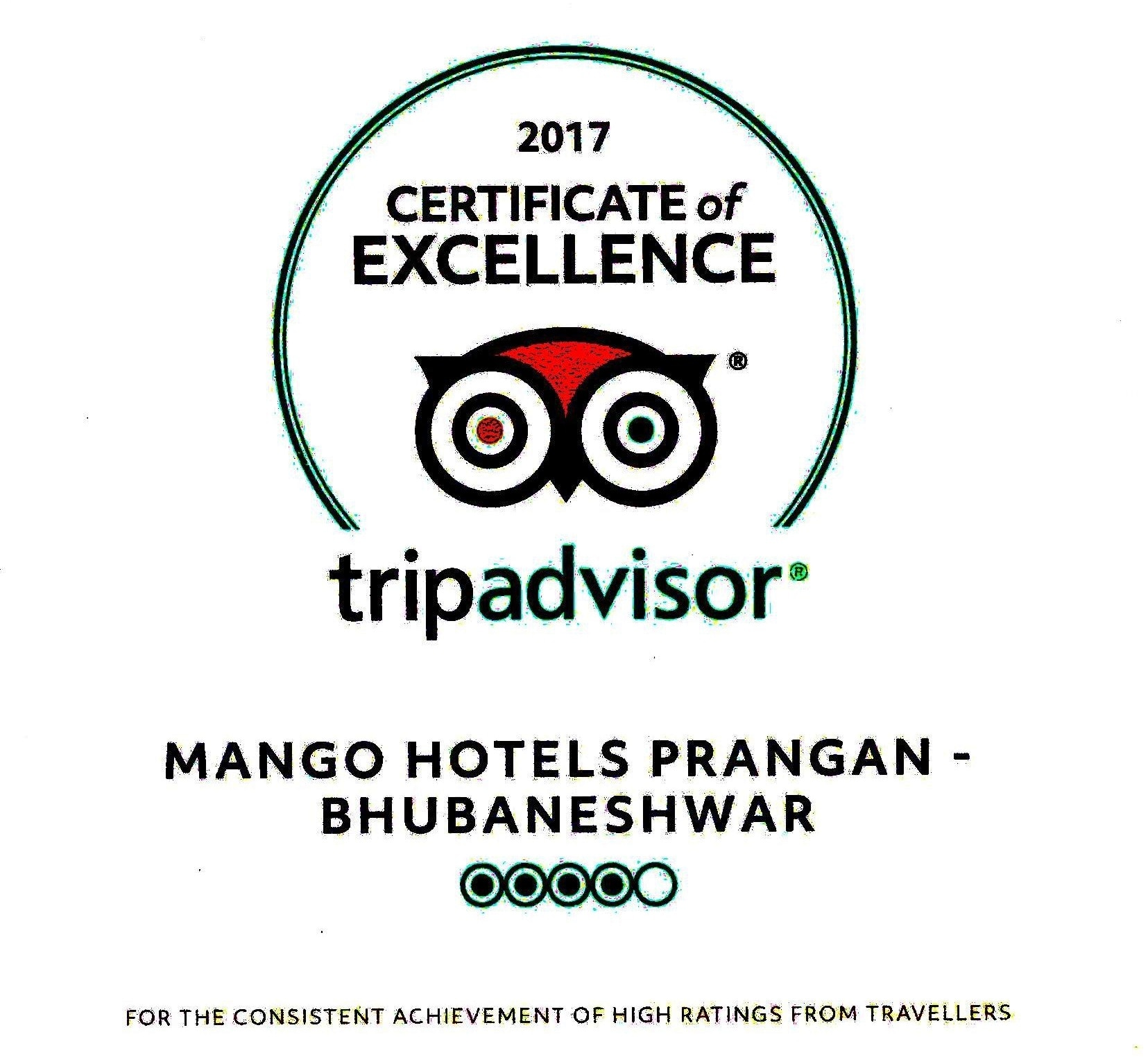 Updates Certificate Of Excellence From Prangan By Mango Hotels