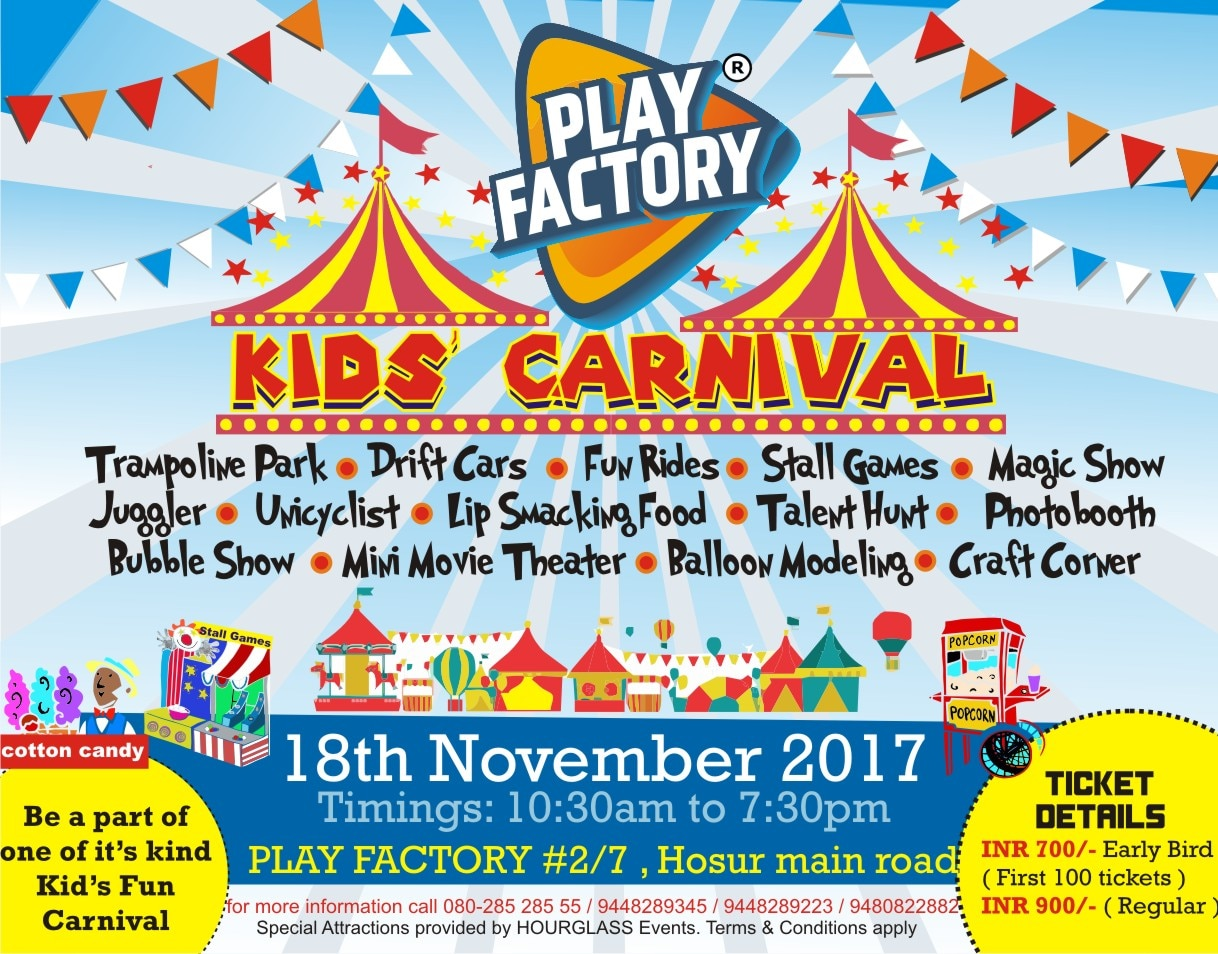 WISHING THE KIDS A HAPPY CHILDRENS DAY.  GET YOUR KIDS READY, It's FUN TIME @ Play factory. on 18th November 2017.