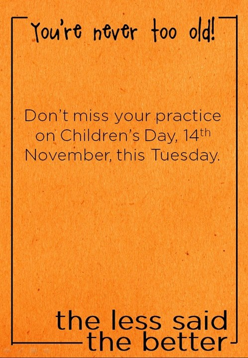 Children's Day @ Aayana - Practitioners who dropped by for their yoga practice, left their inhibitions behind and brought out the child in them!  After all, adults are just outdated children! Plus, oodles of fun for our kids yoga batch too!  So grown-ups… how can you be a kid in practice? Play. Sing. Laugh. Use your imagination. What's the simplest and most honest answer you can give?