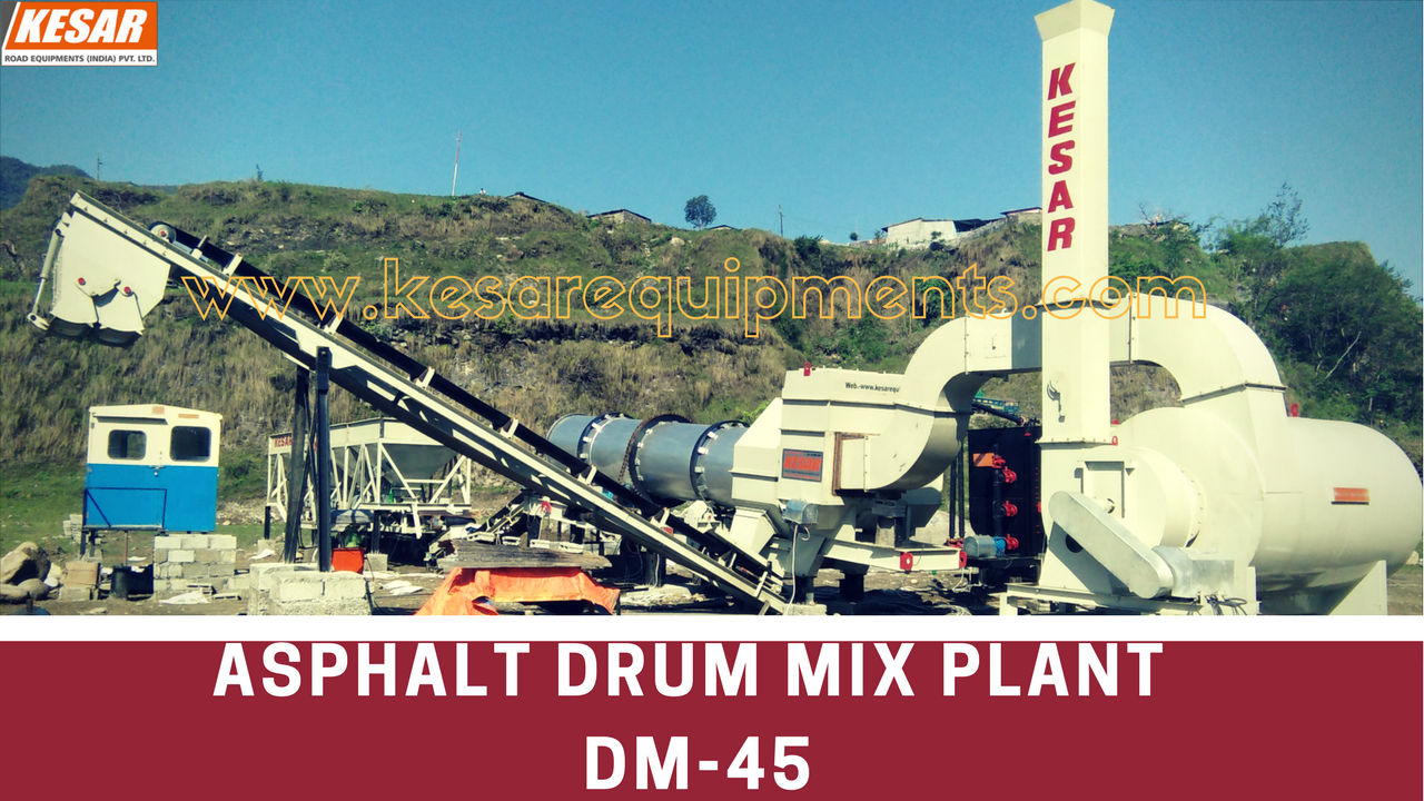 Asphalt Hot Mix Type Drum Mix Plant Manufacturer And Supplier In Maharashtra, Tamilnadu, Etc.  Kesar Road Equipments Manufacturer Of Bitumen Tank In Mehsana, Gujarat, India.  www.kesarequipments.com