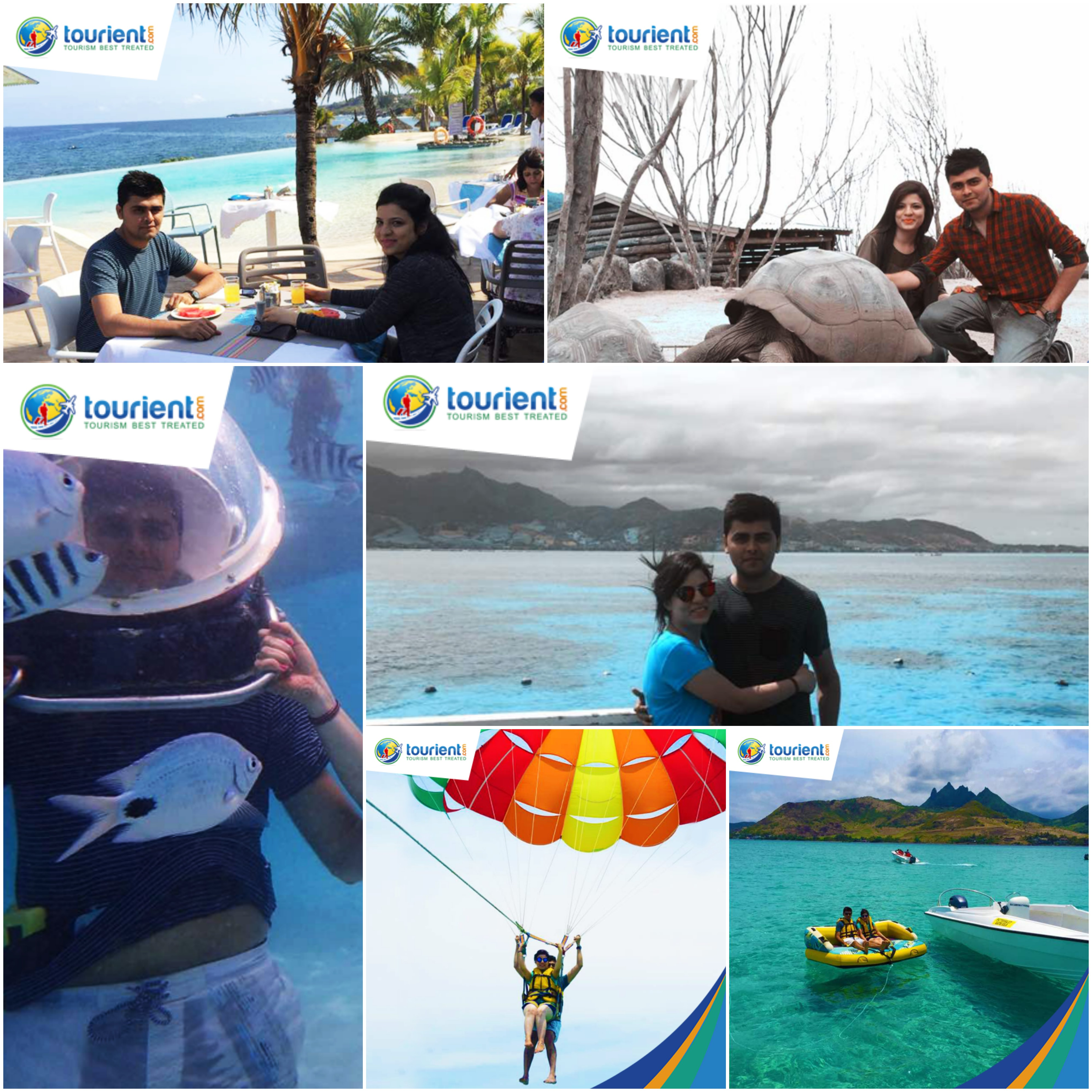 Glimpses of the Mauritius Honeymoon Package availed By Mr & Mrs. Gaulani.