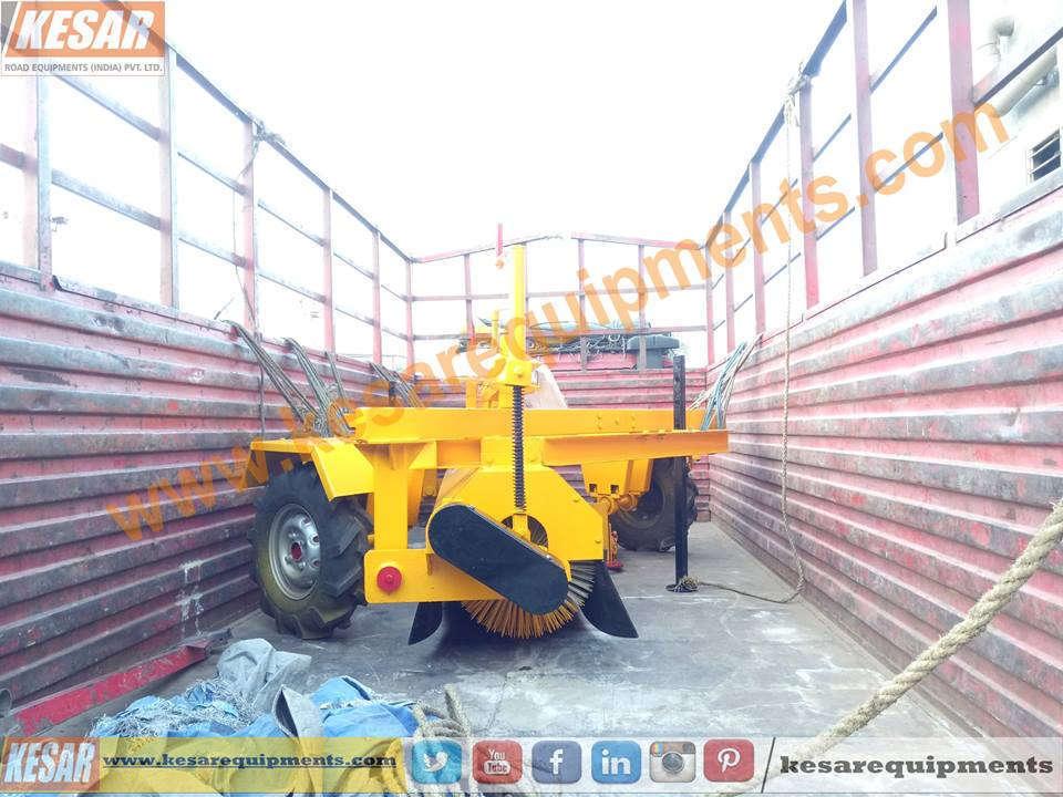 Today We Dispatched Hydraulic Broomer(Road Sweeper) At MadhyaPradesh, India  Kesar Road Equipments Manufacturer Of Asphalt Drum Mix Plant In Mehsana, Gujarat, India.  www.kesarequipments.com