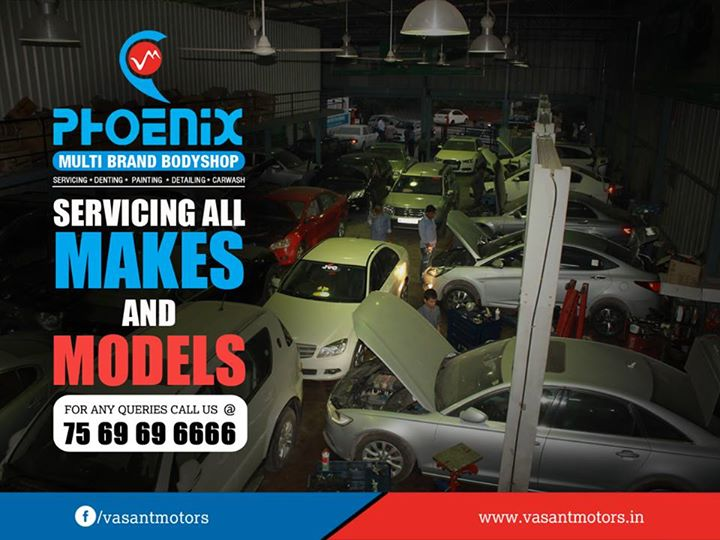 Servicing all MAKES and MODELS. we do all kinds of repairs for all premium cars like #mercedes, #audi, #bmw, #jaguar, #landrover, #volvo , #volkswagen and #skoda at our visit vasant motors #PHOENIX #Multi #Brand #Bodyshop. #Servicing #Denting #Painting #Detailing #Carwash. For any queries call @7569696666. visit us @ www.vasantmotors.in