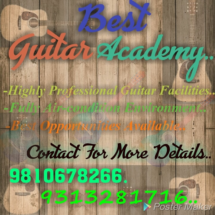 Best Guitar Classes In South Delhi.  Training On Electric Guitar, Bass Guitar & Accoustic Guitar. Join Us For Professional Learning.