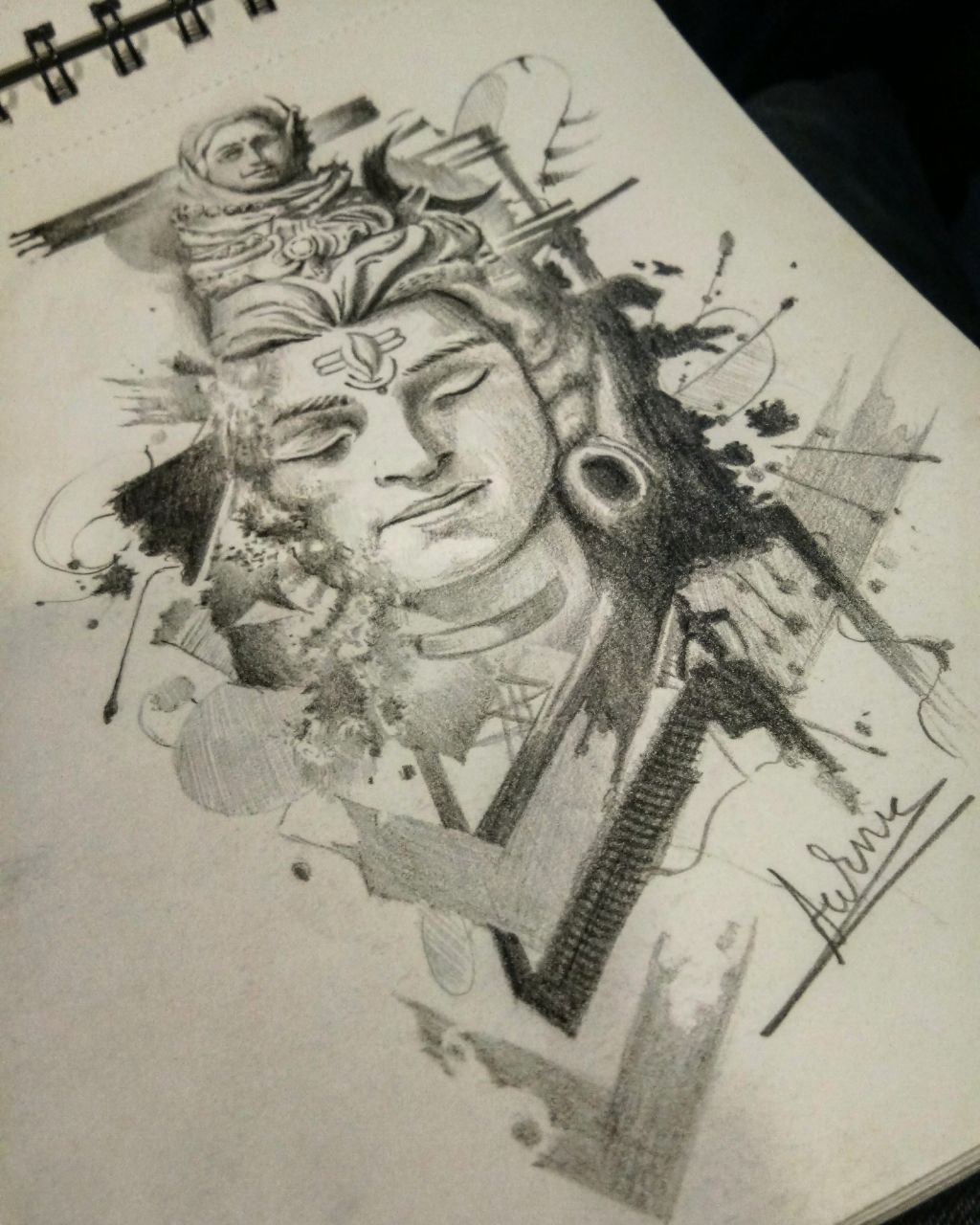 Sketch Of Lord Shiva Tattoo It As Rough Sket Crazy Ink Tattoo