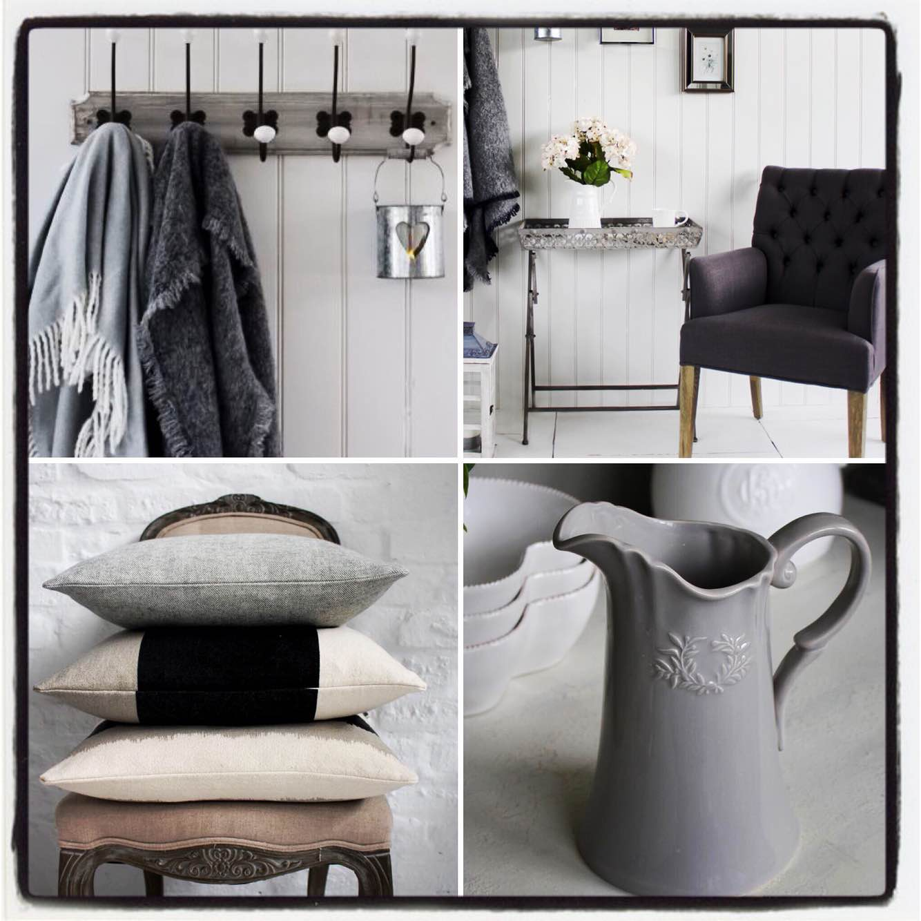 Grey is so stylish, especially at Christmas. Get some home decor tips by visiting House of Treasures Emporium and discovering hidden treasures... #greytones #stylish #elegant #christmasdecor #wintryhues #homeaccessories #styleyourhome #styleinspiration #giftideas #houseoftreasures #hiddentreasures
