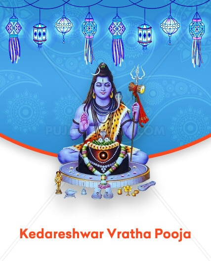 First performed by Parvathi Devate, the Kedareshwar Vratha Pooja is a tough yet highly beneficial one that fulfils heart's desires through blessings of Shiva Devaru.  Religious Significance of Kedareshwar Vratha Pooja Goddess Parvathi had performed the Kedareshwar Vratha Pooja to merge with Lord Shiva forming the Ardhanareeswara avatar which symbolises the equality of men and women Performing this pooja impresses Shiva Devaru and helps you gain his favour When Can the Kedareshwar Vratha Pooja be Performed? The day of Amavasya during Diwali is most suitable for Kedareshwar Vrath Pooja. Advantages of Performing the Kedareshwar Vratha Pooja Restores good health Ensures prosperity