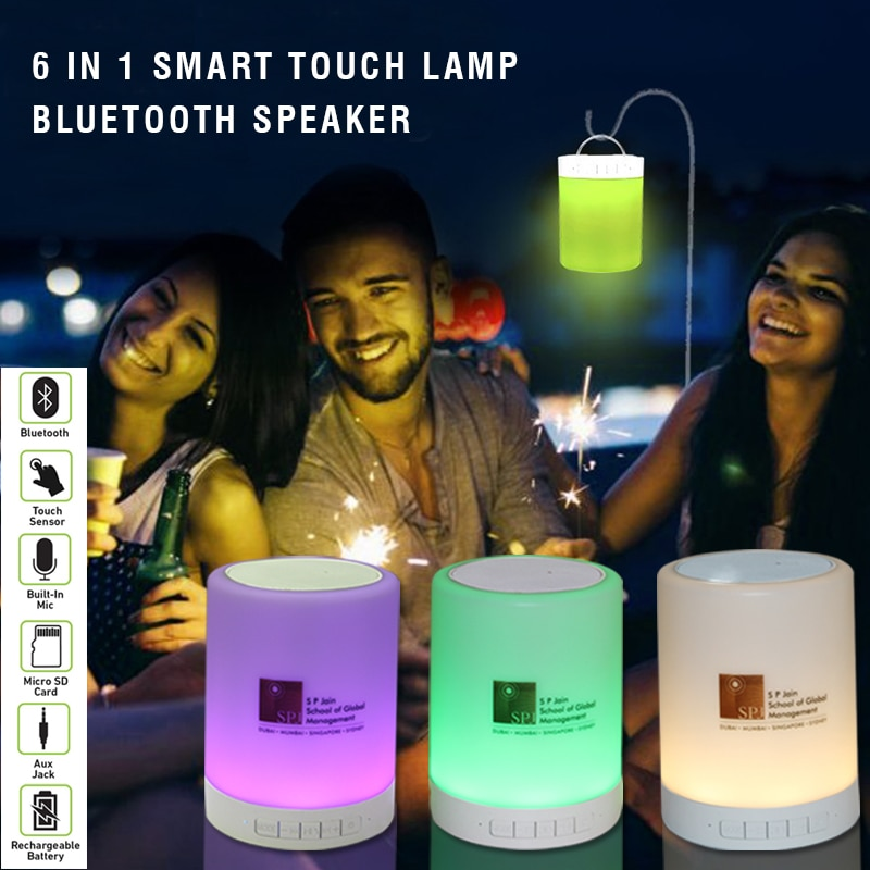 Best Bluetooth Speaker Supplier In Andheri East, Mumbai  Are you ready for the New Year Party? We at Giftt Hub Introduces the perfect new year gift. This LED Touch Lamp Bluetooth Speaker is one of the best Corporate Gifts this Season.  So set your mood with this Bluetooth Speaker as it not only changes colour but also plays the music as per your mood. This Portable Bluetooth Speaker has many functions like FM Radio, Call Anser function, Micro SD Card Slot, Built in battery with lasts for 3-4 hours and can easily be charges with the micro USB Cable.  Hurry to place your order !!