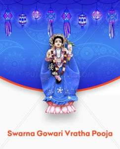 Swarna Gowri Vratha Pooja, also popularly known as Gowri Habba, is observed to please the goddess Parvathi Devate. This puja is mainly performed by married women seeking the goddess's blessing for the well-being and good fortune of their husbands. Unmarried girls can also perform this puja to be blessed with good life partners.  For more Puja Services click on http://pujanpujari.com/