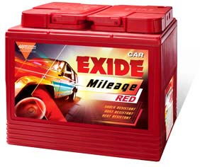 Exide Mileage Four Wheeler Battery Exide Mileage Four Wheeler Battery Dealer Exide Mileage Four Wheeler Batteries Exide Mileage Four Wheeler Batteries Dealer Exide Mileage Four Wheeler Batteries is  Robust design - to take care of      stringent application requirements, Special side vented cover design - excellent    spill-resistant characteristics, Double clad separation - high reliability and life  expectancy ensures customer satisfaction, Technology - to suit high temperature applications, Appearance - rugged with appealing cosmetics, Magic Eye - for determination of electrolyte level and state-of-charge, Easy to use - batteries delivered in factory-charged, ready-to-use condition