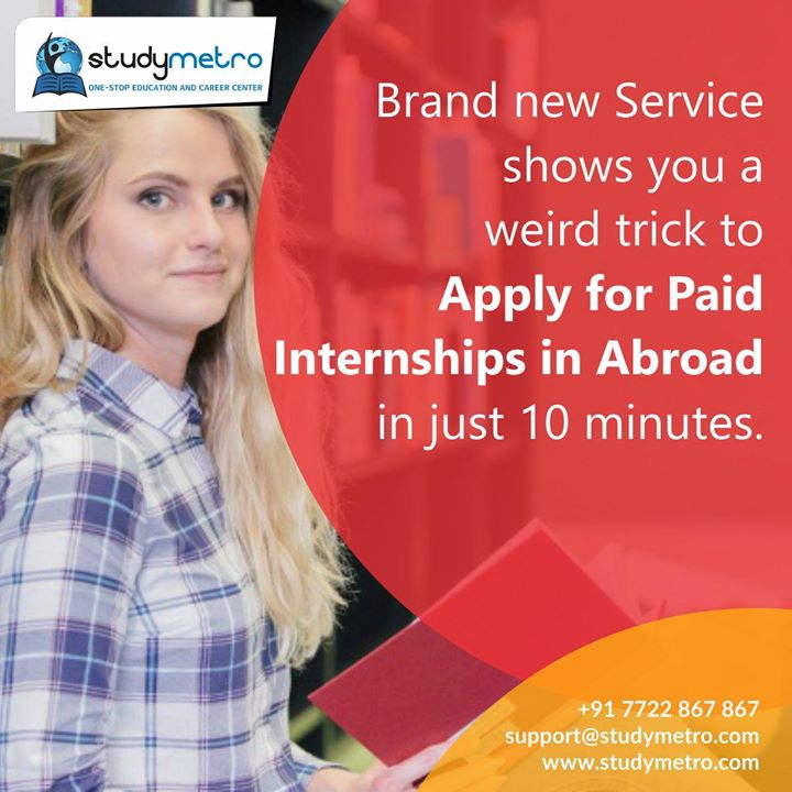 Apply for Internships in Abroad and earn upto $10-$15 per hour. The Free ebook and step by step training for getting abroad Internships That Absolutely Gets Results If you're a Students and you struggle with Not knowing where to start and having information overload, then Apply for Internships in Abroad and earn upto $10-$15 per hour. will absolutely help you faster than you ever thought possible. Click Here To Apply to discover how to Apply for Paid Internships in Abroad 1 http://ow.ly/u2nf30htRCb