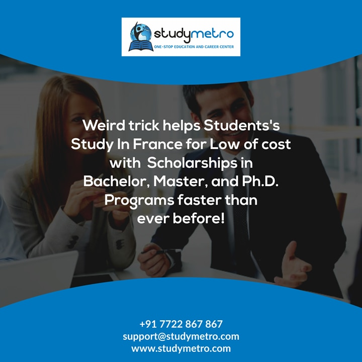 Weird trick helps Students's Study In France for Low of cost with Scholarships in Bachelor, Master, and Ph.D. Programs faster than ever before! http://ow.ly/FEKC30hFavx