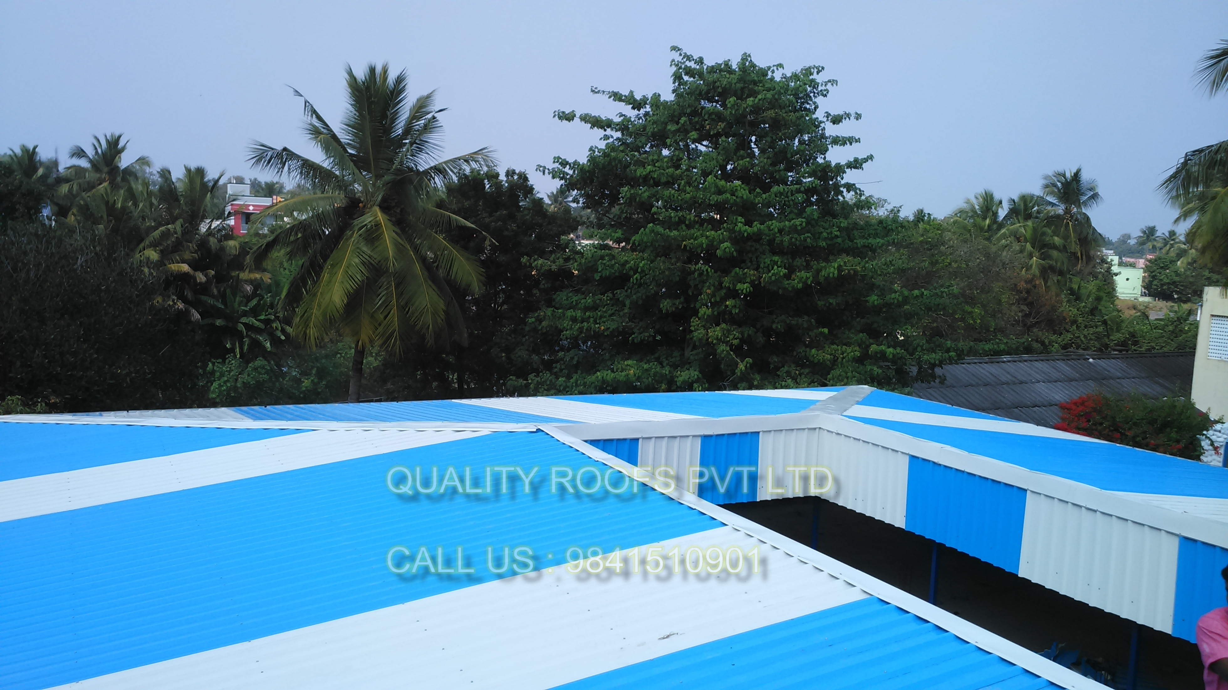 Metal Roofing Contractors In Chennai          We are the leading Metal Roofing Contractors In Chennai. The offered sheds are manufactured using finest quality material that is sourced from reliable vendors of market. These sheds are widely acknowledged for their longer functional life and weather resistance.  can be provide with color finishes according to customer requirements. we are the best Roofing Contractors Chennai. we undertake all kinds of Roofing Works In Chennai.
