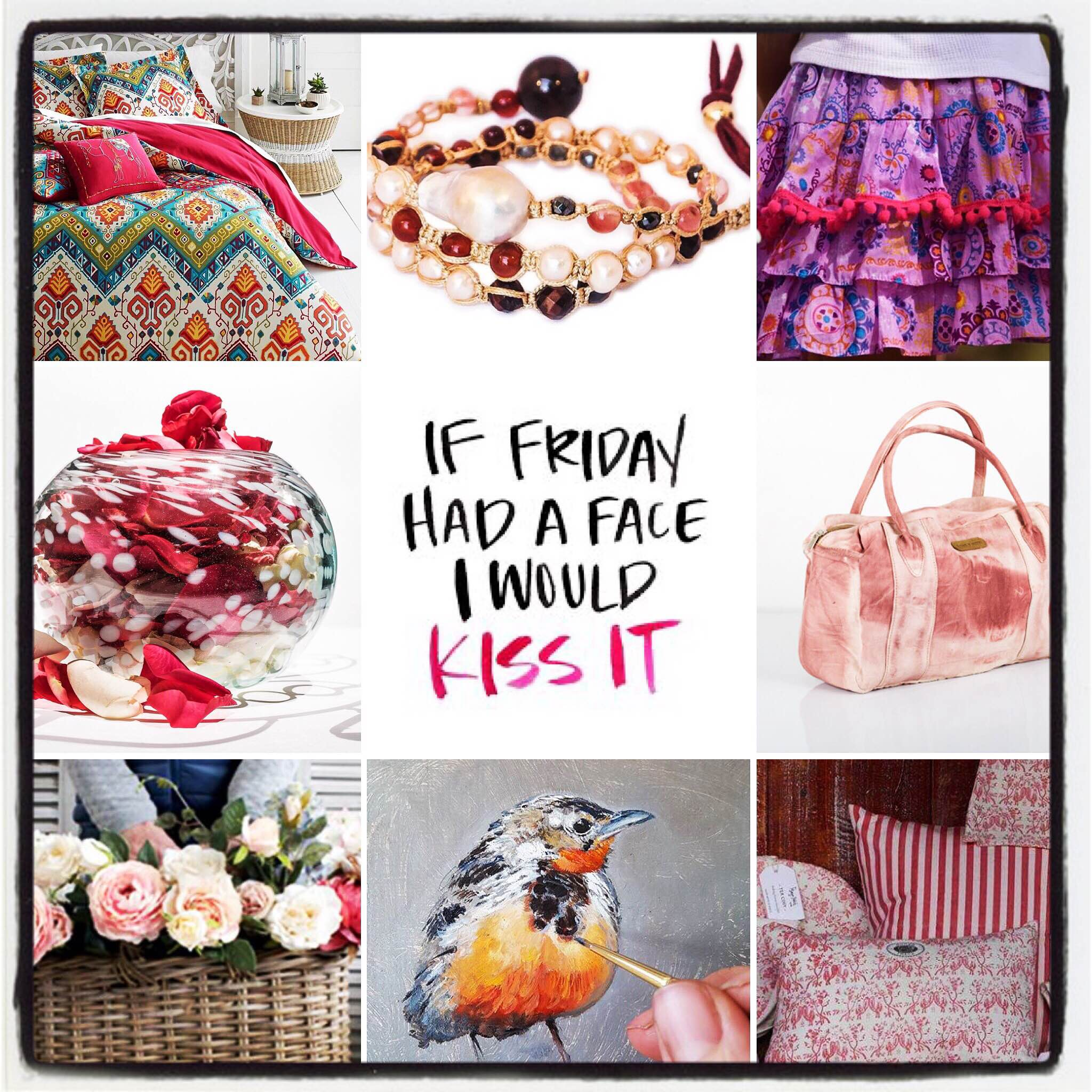 All things lovely and pink for our favorite day...Friday! Have a wonderful weekend. Go on a shopping spree at House of Treasures Emporium and discover hidden treasures... #houseoftreasures #hiddentreasures #allthingslovely #pinkispretty #thankgoditsfriday #fridayfeeling #shoppingspree #weekendfun #jewellery #linen #homedecor #homeaccessories #handbags #art #fashion #glassware