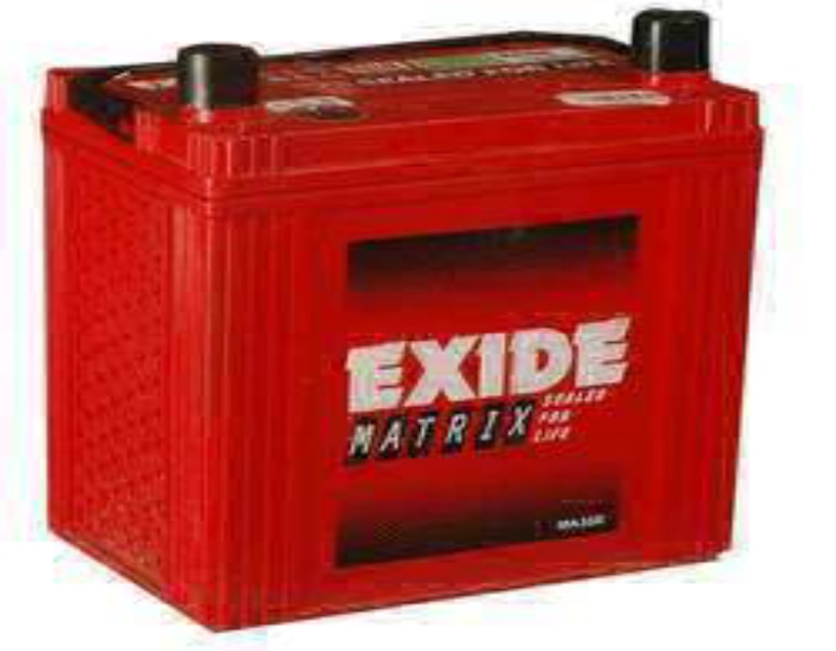 Exide Matrix Four Wheeler Batteries  Exide Matrix Four Wheeler Battery Wholesaler Exide Matrix Four Wheeler Battery Dealer Exide Matrix Four Wheeler Battery Distributor Exide Matrix Four Wheeler Batteries Exide is a leading name in the Automotive Batteries , Excide Matrix four wheeler Batteries is Maintenance-free batteries with advanced Ca - Ca system, Long wet shelf life - no freshening charge required for up to 6 months from date of manufacture, Special paste formulation for positive and negative plates - higher life expectancy with superior charge acceptance in service, Double-clad polyethylene and glass mat separation - high reliability and longer life, Special Omega type cover design fitted with Venturi type chamber cover - excellent spill-resistant characteristics, Attractive cosmetics.
