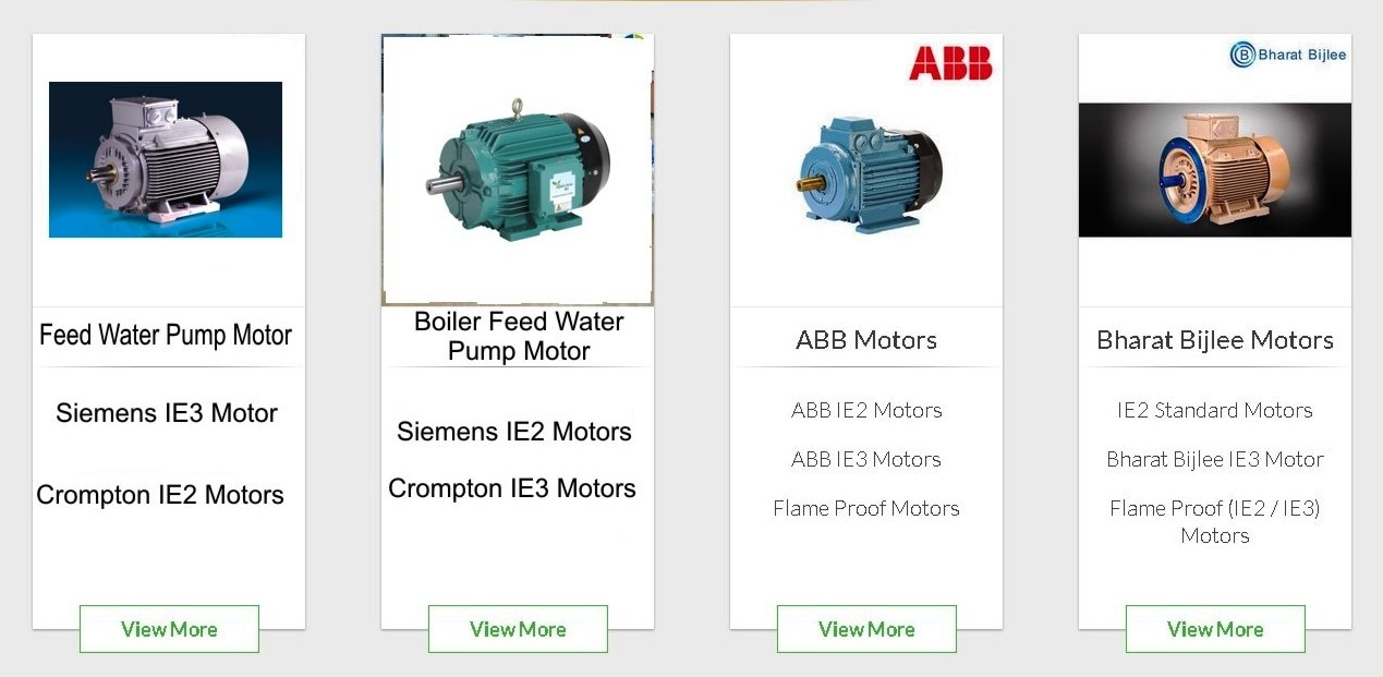 'The Indian Electric Company', The only place to get All types of electric motors such as IE2, IE3, IE4, Crane Duty Motors, Break Motors, Flame Proof Motors, etc., from 1 HP to 300 HP of reputable companies like  'Siemens', 'Crompton', 'ABB', 'Bharat Bijlee' Please contact us at indianelectric.com for more information.