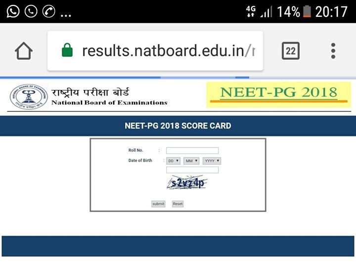 NEET-PG 2018 results out