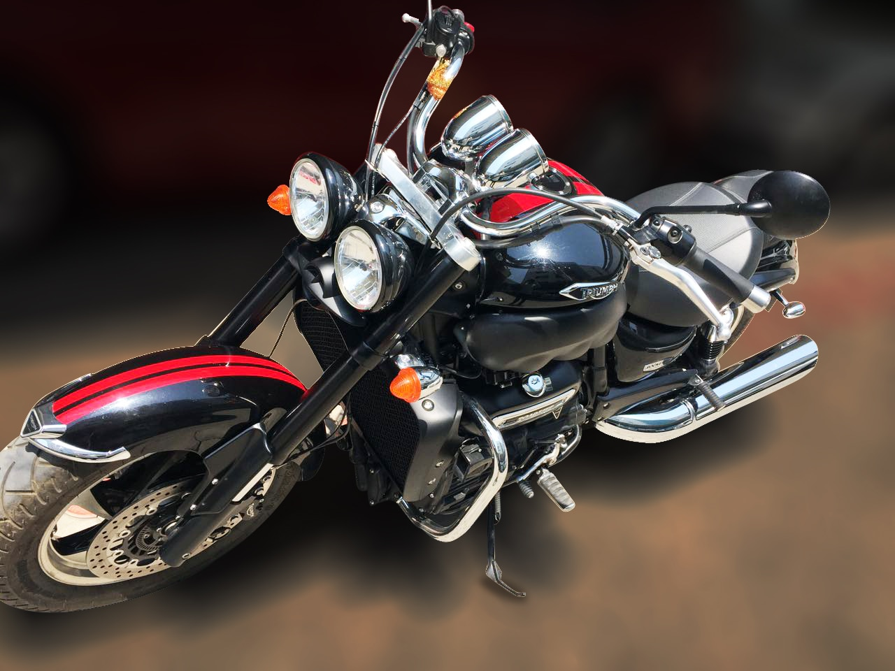 TRIUMPH ROCKET 3 (BLACK COLOR, PETROL), 2017 model done only         1, 000kms in absolute mint condition... For further info call 7569696666.