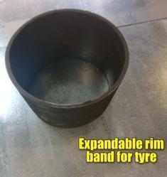Expandable RIM Band for Tyres Suppliers In Coimbatore  Size range from 280mm to 455dia meter, In hard and soft diameter, Die to specified diameter and length