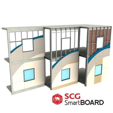 SmartBOARD Is A Great Fibre Cement Choice For External Wall Cladding. Its  Light Weight And