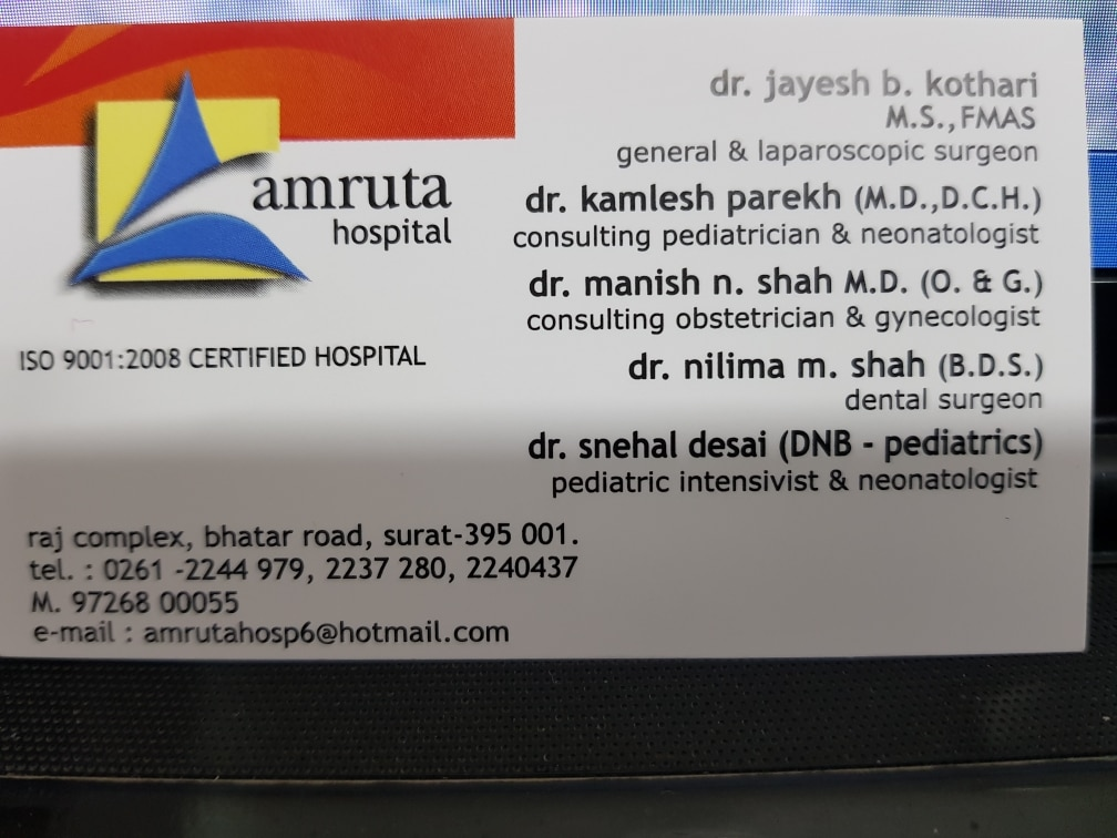 We are running one of the best Dental, General Surgeon, Pediatrician, obsterician, Hospital Healthcare service in Surat.