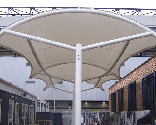 Tensile Suppliers and Manufacturers in Assam , Guwahati We offer a highly functional Tensile structure , Tensile Car Parking , tensile Gazebo Structure , Tensile Skylark , Tensile Bike Parking canopies, awnings, domes, roller blind, pool side furniture, roller window blinds and others in Assam, Guwahati , which are fabricated using superior quality raw material steel, PVC, poly carbonated sheets, compact sheets, multi wall sheets, corrugated sheets and fiber glass that are sourced from reliable vendors. Our all encompassing range includes tensile structure, awning and canopies, walkways coverings and domes, pool side furniture, and roller blind. Tensile Structure Tensile Fabric Structure Tensile Roof Tensile Roofing Tensile Car Parking Tensile Architecture Tensile Membrane Structures , Ceiling False Ceiling Tensile Pagoda Tent Exhibition Tent Retractable Roof Retractable Roofing Pool Enclosure Stadium Tensile Restaurant Tensile Car Parking Shade Outdoor Tensile