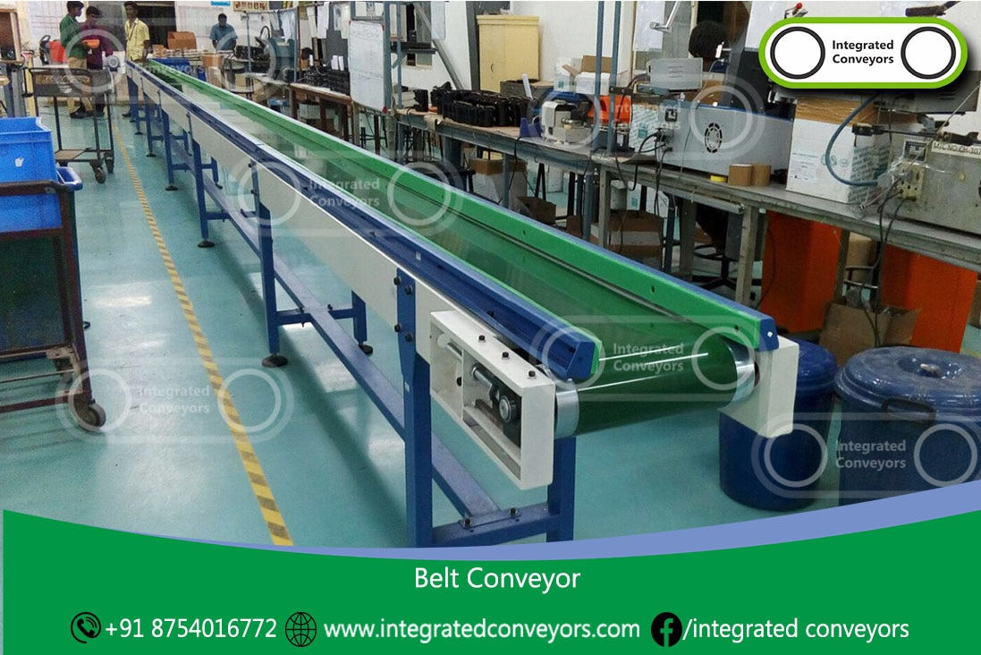 Belt conveyors are the most commonly used powered conveyor due to their economical cost and simplicity.  Versatile in what products they can transport Used to carry loads over long distances. Convey products to different elevations (incline or decline) Plastic belt conveyors are used in food and beverage market