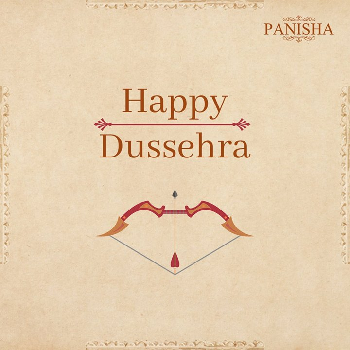 Let's celebrate the victory of the good over the bad. Panisha wishes everyone a very Happy Dussehra!  For any enquiry, give us a call on +91-9530053233.