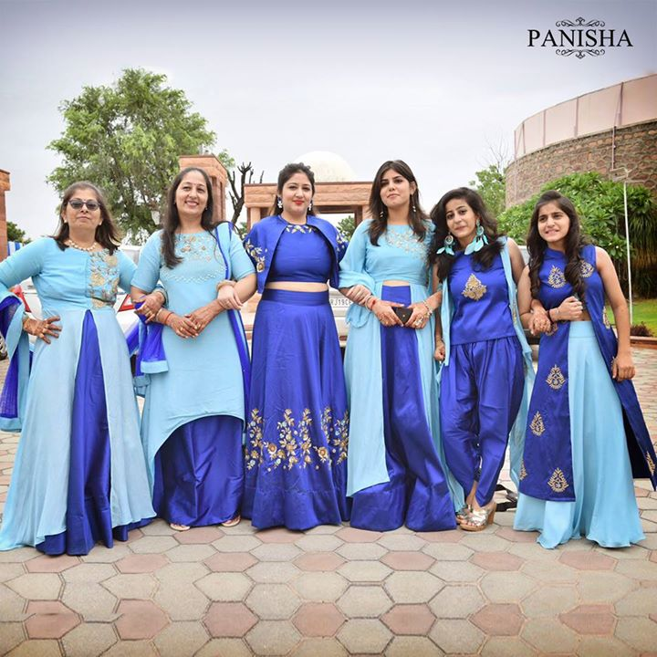 Six gorgeous women dressed in designs exclusively crafted just for them.  We are overwhelmed to see our clients happy.