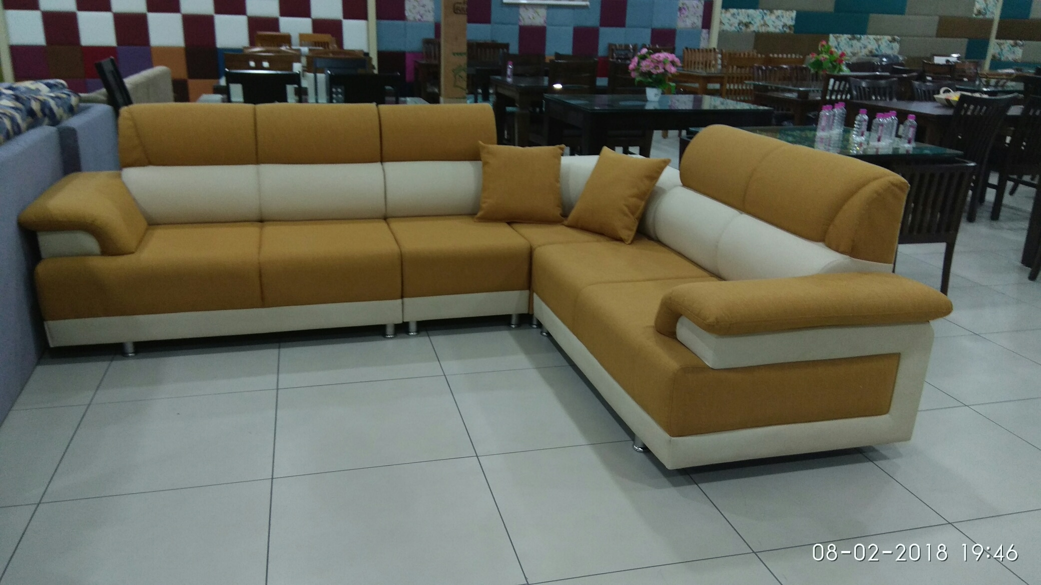 sofa ready display Akshar Furniture in Ahmedabad India