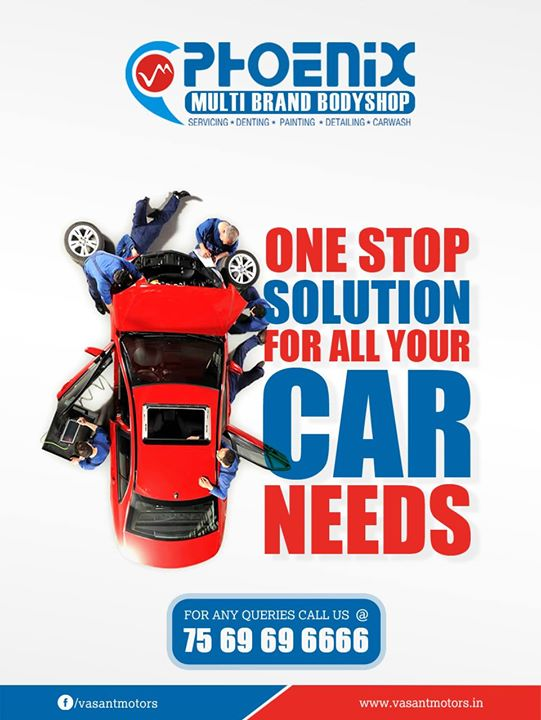 one stop #solution for all your #car needs. we do all kinds of repairs for all premium cars like #mercedes, #audi, #bmw, #jaguar, #landrover, #volvo , #volkswagen and #skoda at our visit vasant motors #PHOENIX #Multi #Brand #Bodyshop. #Servicing #Denting #Painting #Detailing #Carwash. For any queries call @7569696666. visit us @ www.vasantmotors.in