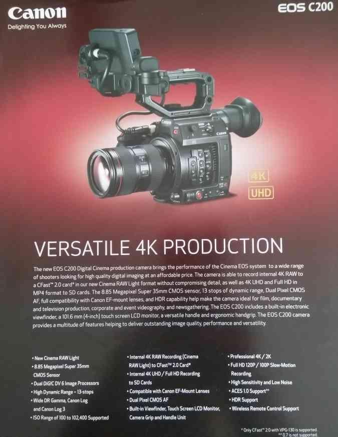 4K Production Camera