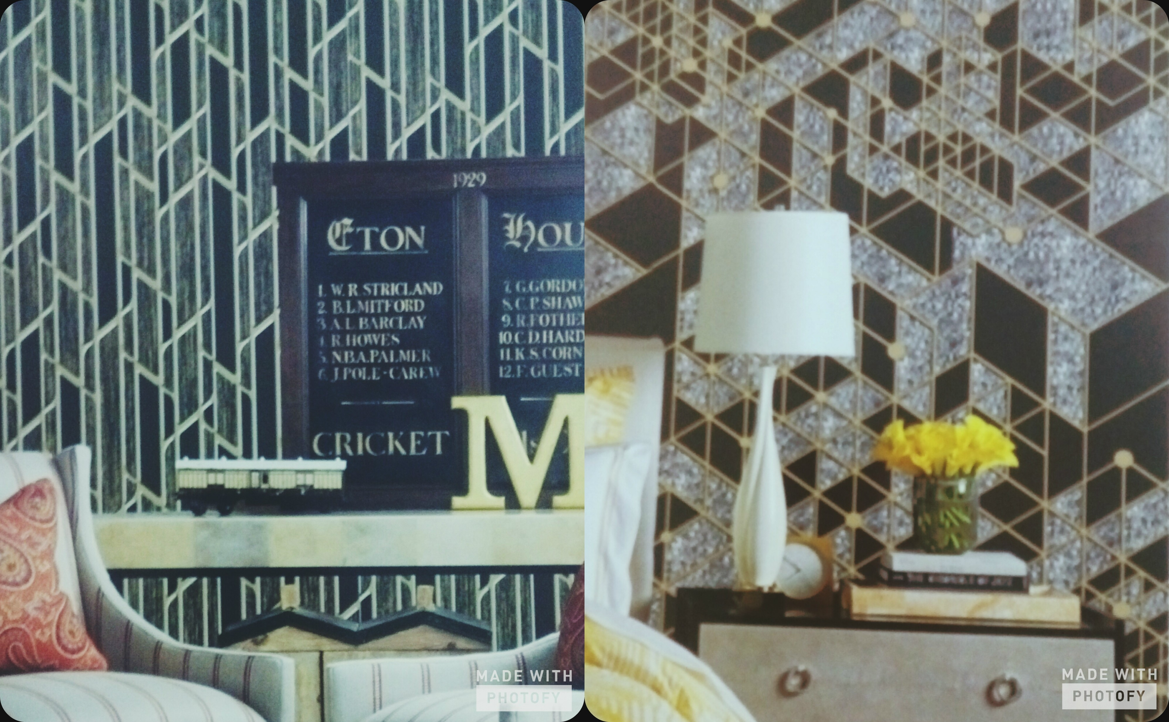 Imported Wallpaper Dealer in North India  A 3D Geometric design wallpaper from the SUPERB. This pattern is available in black n white strips, blue n grey shades and also in other many color combinations.  Contact Us - Very affordable Price Catalogue.