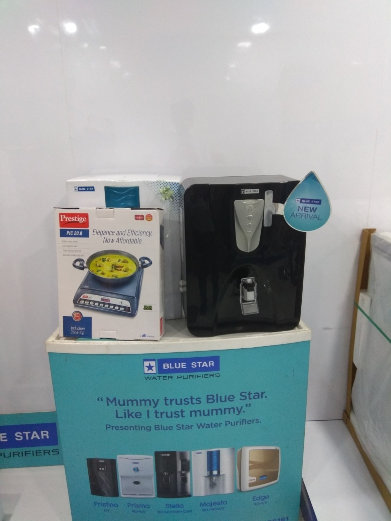 Blue star domestic water purifiers, Ro and RO+UV systems. Limited offer Imeria purifier. Prestige Induction stove FREE....