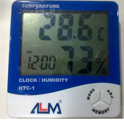 It is a digital temperature and humidity meter with Large character LCD display, Lower power consumption, Indoor/outdoor Temperature, indoor humidity and Clock display simultaneously.
