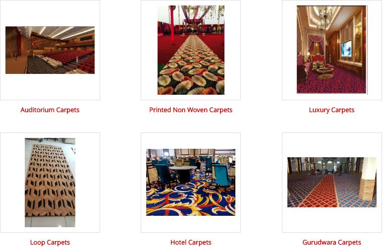 Designer carpets Luxury means something rich and high quality material. Our manufacturing technology is friendly with various types of Yarns. Moreover, the technical ability of our technicians enables us to produce Broadloom carpets in Yarns like New Zealand wool, Viscose etc. for VIP and special areas.For more designs, display and information pl visit our factory showroom. Features: Intricate Designs & Patterns Finely Stitched Reasonably Priced  Manufacturer of Auditorium carpets in Jalandhar Manufacturer of printed Non Woven carpets in Jalandhar Manufacturer of Luxury carpets in Jalandhar Manufacturer of Loop Hotel carpets in Jalandhar Manufacturer of Gurudwara carpets in Jalandhar Manufacturer of Drawing Room carpets in Jalandhar Manufacturer of Corridor carpets in Jalandhar Manufacturer of Cinema Hall carpets in Jalandhar