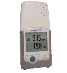 Telaire handheld Air Quality Meter measures humidity, Temperature & CO2 with  RS 232 communication option.