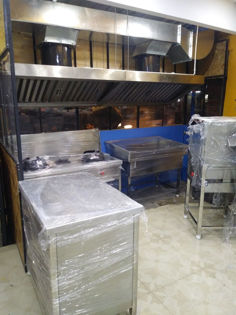 Stainless Steel Kitchen Equipments , Dosa Plate, Chinese Cooking Range , Work Tables , Idly Box , Exhaust Hood , Exhaust Ducting , Complete Kitchen Equipment Design & Setup Done At Maduravoyal Kette Chutney Pure Veg Restaurant , Best Commercial Kitchen Equipment Manufacturer In Chennai