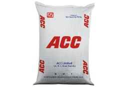 Buy acc cements of grades opc53 , opc43 at 320rs in Bangalore on a minimum order of 250 bags
