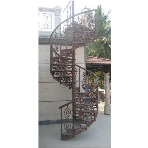 Iron Spiral Staircas