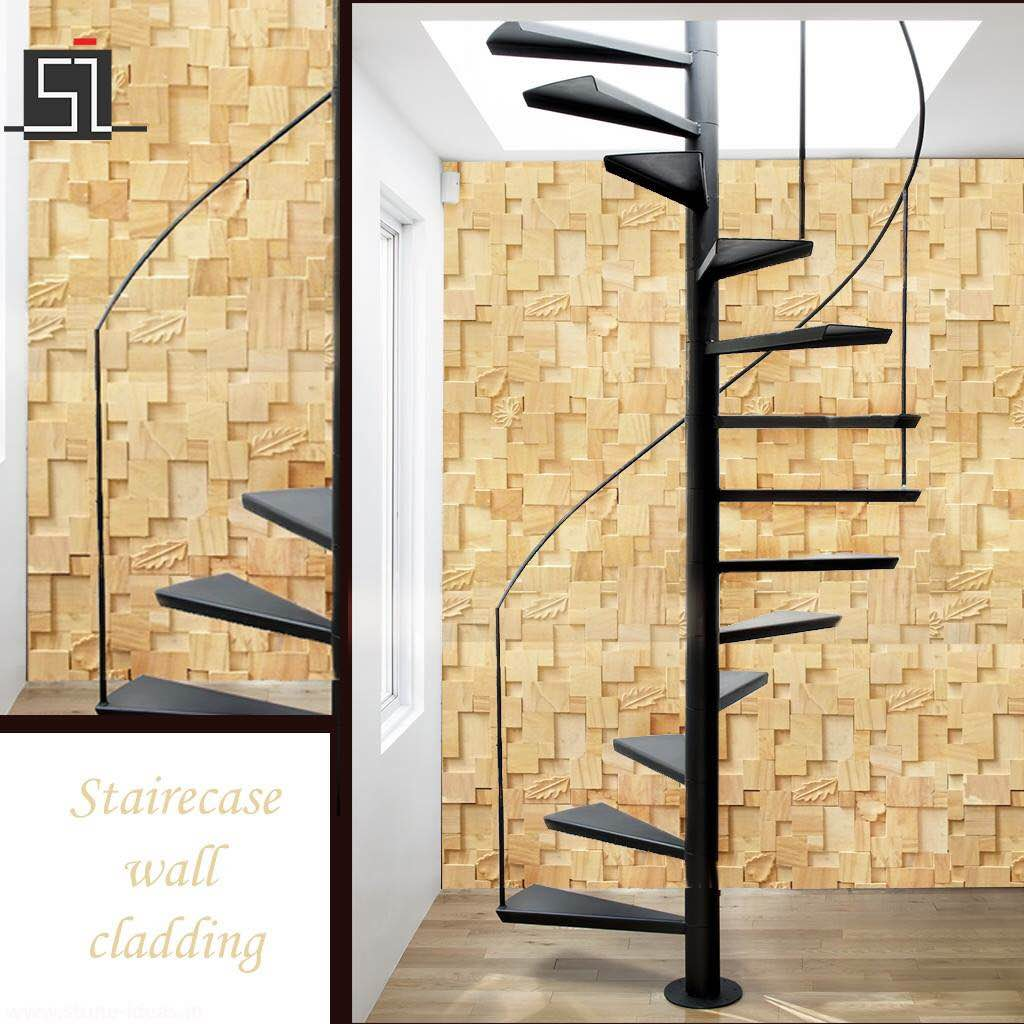 Smartest way to decorate your staircase wall is with stone wall ...