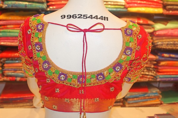 Bridal Designer Blouse Stitching at Fabloon Ladies Boutique and Tailoring.  Wedding Blouse Designs In Vadapalani. Latest Bridal Blouse Designs At Kodambakkam. Bridal Blouse Back Neck Designs Near Virugambakkam. Bridal Embroidery Blouse Designs Around Saligramam.  Check all updates for more collections.