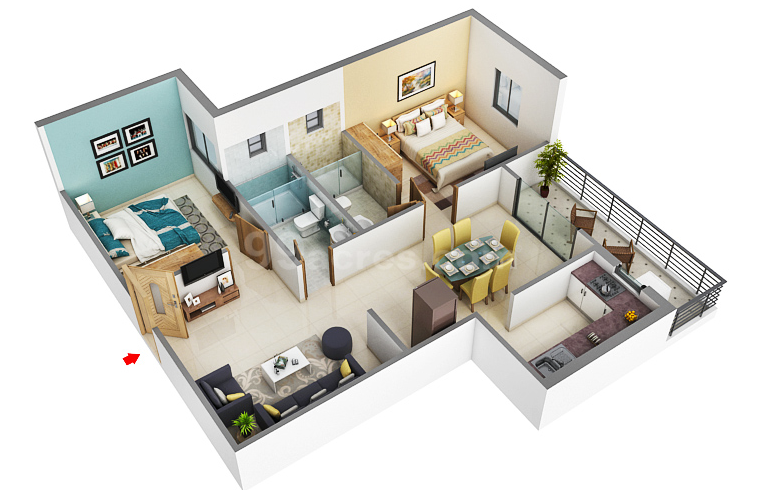 2 BHK and 3 BHK avai