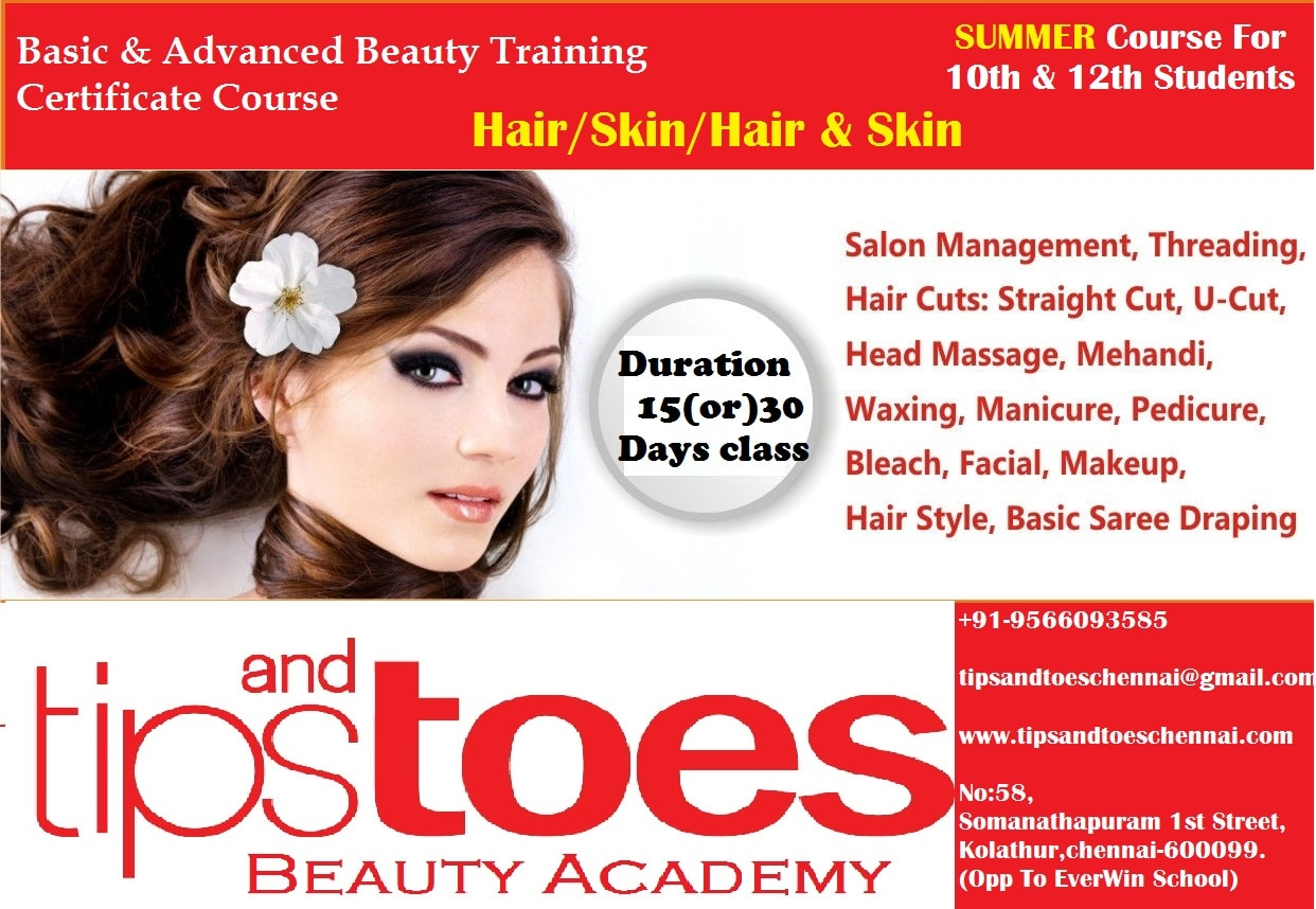 Beautician Institutes in chennai kolathur Are : Tips and Toes