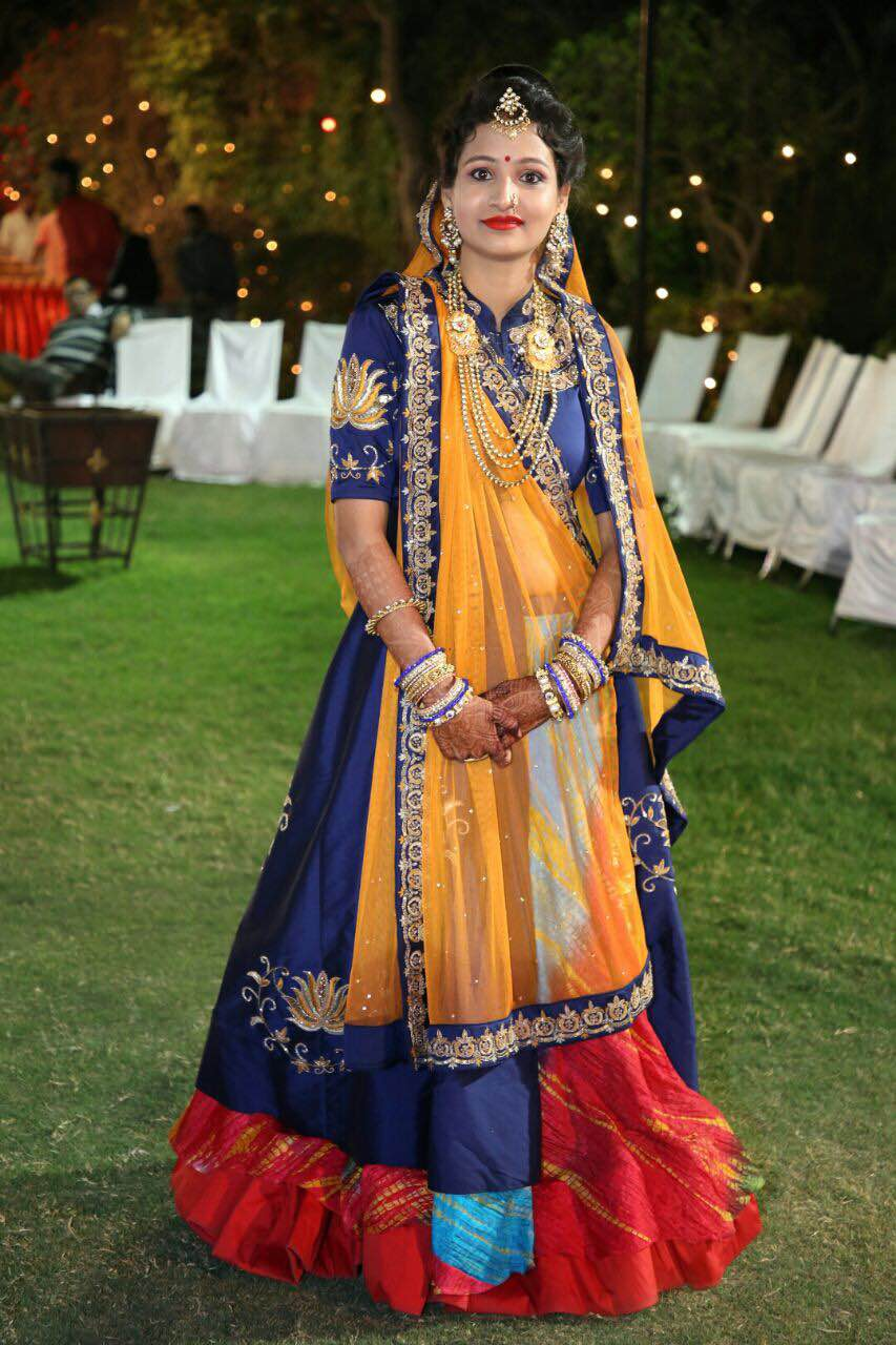 Designer Ethnic Wear in Jodhpur Traditional Designer wear in Jodhpur  Women Designer wear in Jodhpur  Designer Lehnga Suit in Jodhpur  Handwork Gown in Jodhpur  Designer Gown in Jodhpur  Tradition Wear in Jodhpur  Bridal Wear in Jodhpur  Designer Boutique in Jodhpur Boutiques in Jodhpur  Designer Ethnic Studio in Jodhpur  Designer lehnga with Ethnic Traditional blouse designs with electric blue colour handcrafted work all over the Dupatta and blouse with lot of flairs in the lehnga and traditional Lehriya double flair under it