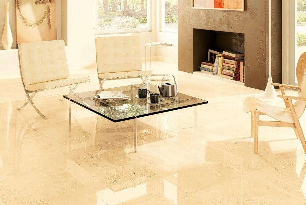 High Gloss Porcelain Floor Tile Mirror Look Lycos Ceramic India