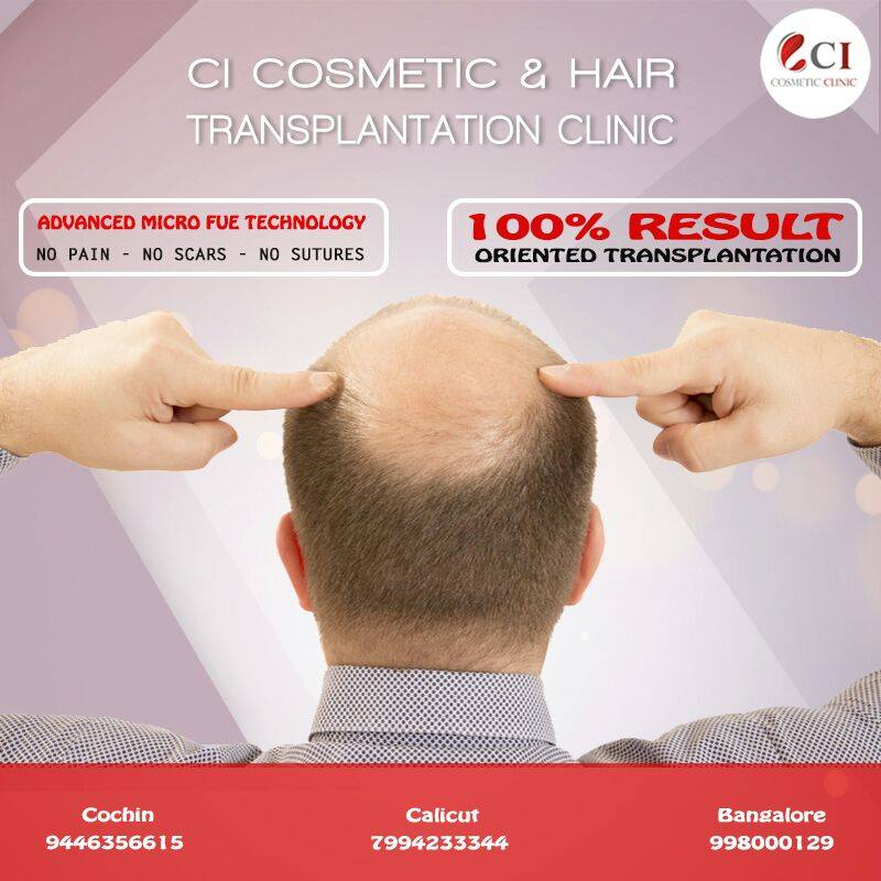 NOW NO MORE WORRIES ABOUT HAIRFALL. BECAUSE Cutis International -C I Cosmetic Clinic BRINGS YOUR HAIRY LOOKS BACK TO REALITY. With our Latest Hair Transplant Methods