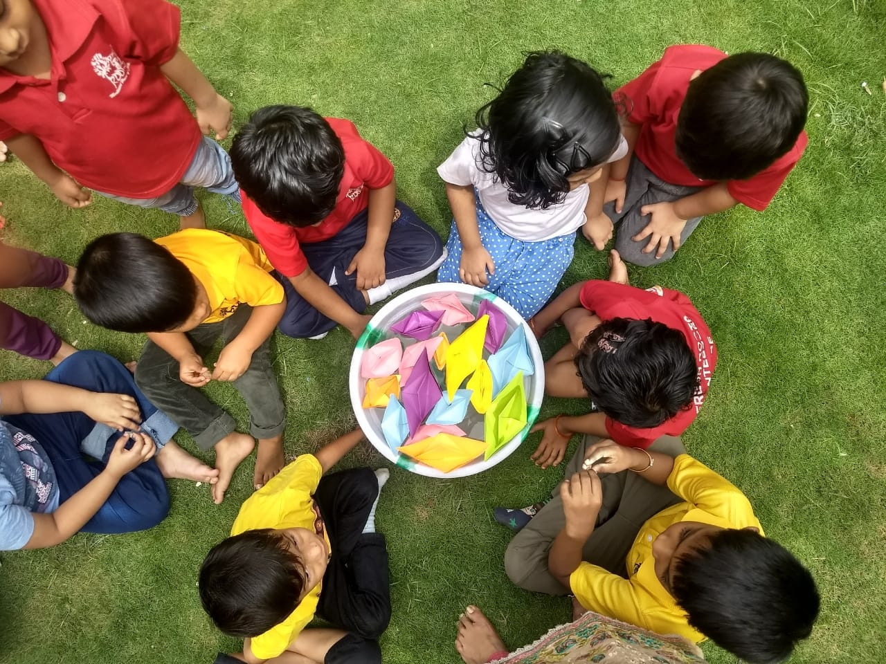 Monsoon magic at Fresh Roots Montessori House.... Dancing to the music of rains and making boats and floating them.... Kids didn't want anything else.  Admissions in progress. For details call 9849275222 /9849330645