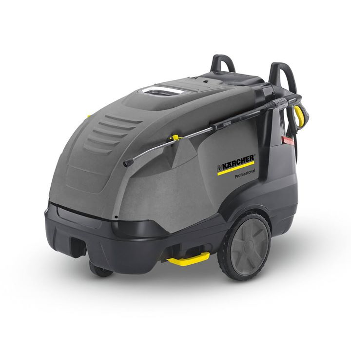 Karcher-HDS-8/18-4 M    HDS-8/18-4M            The heated three-phase HDS 8/18-4 M entry-level machine offers considerably higher pressure compared to the single-phase HDS 7/12-4 M high-pressure cleaner. The hot water high-pressure cleaner with 4-pole, water-cooled electric motor offers impressive features like the economical eco!efficiency mode. Service switch for water hardness regulation, turbo blower, cleaning agent dosing unit, optimised burner engineering and high pump efficiency are other eco-friendly equipment details. LED displays, loss-proof spray lance intake and the central control panel ensure easy operation. Optimum cleaning performance is achieved with the patented nozzle technology and application-specific accessories. Steering roller, large rubber wheels, push handle, tilting aid, lifting points for handling with a forklift and transport eyelets are all part of the mobility concept. The necessary operational safety is ensured by the 3-piston axial pump with ceramic pistons, the heat-resistant flue outlet, system care adaptation, robust chassis and exhaust monitoring. All components required for maintenance are easily accessible. Using the service switch, the operating data for fault diagnosis can be conveniently retrieved at any time.  Product pdf Link:https://s4.kaercher-media.com/documents/datasheets/machines/en_INT/1.077-609.0_PI_en_INT.pdf  Video Link:https://youtu.be/265B04ZXw8c  For More Details:  Contact US,  Force Auto Solutions  Mr.Senthilkumar (MD)  Ph. 9865197879 .  E.Mail ID: forceautosolutions@yahoo.com  . For more info visit us at http://forceautosolutions.com/Karcher-HDS-8-18-4-M-HDS-8-18-4M-The-heated-three-phase-HDS-8-18-4-M-entry-level-machine-offers-considerably-higher-pres/b184?utm_source=facebookpage