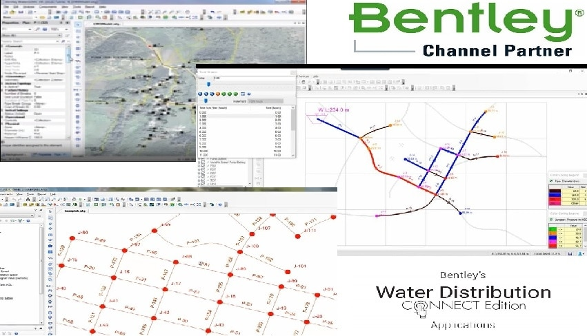 Bentleg WaterGEMS (BENTLEY WATER DISTRIBUTION ANALYSIS AND DESIGN SOFTWARE)WaterGEMS provides you with a comprehensive yet easy-to-use decision-support tool for water distribution networks. The software helps improve your knowledge of how infrastructure behaves as a system, how it reacts to operational strategies, and how it should grow as population and demands increase.CAPABILITIES--1- Analyze pipe and valve criticality2- Assess fire flow capacity3- Build and manage hydraulic models4- Design water distribution systems5- Develop flushing plans6- Identify water loss7- Manage energy use8-Prioritize pipe renewal9- Simulate networks in real time
